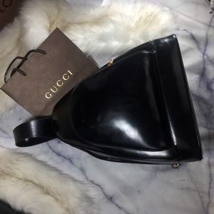 GUCCI vintage patent backpack